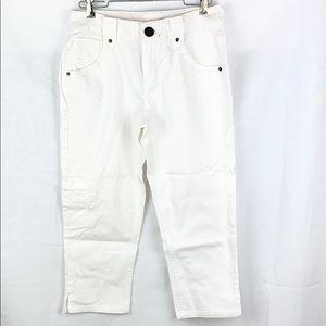 DKNY White Capri Jeans